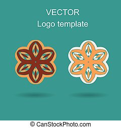 Abstract logo vector design template.