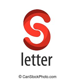 abstract, logo, vector, s, brief, rood