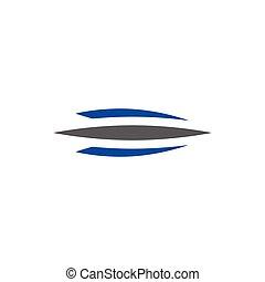 abstract logo vector swoosh