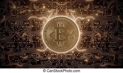 Abstract loop bitcoin world in circuits
