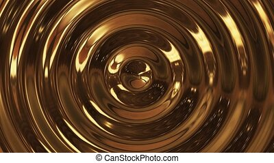 Abstract loop ripple gold 3d wave
