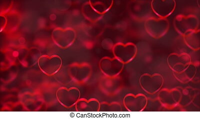 Abstract Loopable Background, flying hearts