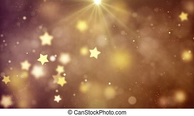 Abstract Loopable Background with nice flying stars