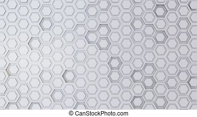 Abstract loopable video background with hexagons