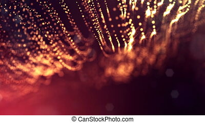 abstract looped dynamic garlands of luminous particles for...