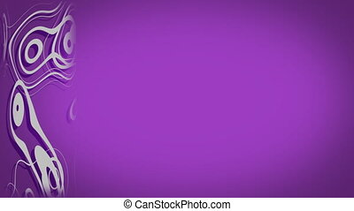 Abstract looping animation. Purple and pink colors. ...