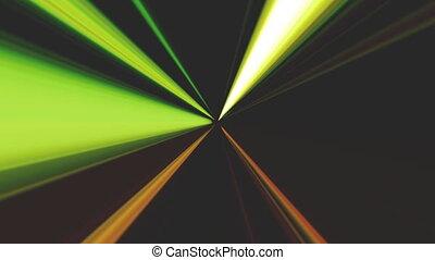 Abstract Looping Color Beams