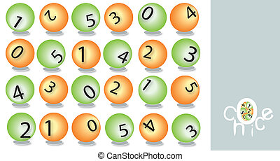 Abstract lottery poster - Making your choices between six...