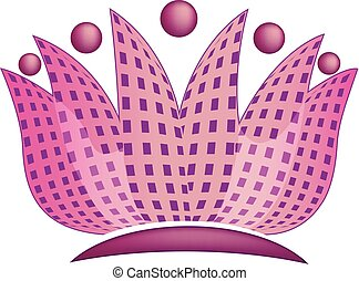Abstract lotus flower logo