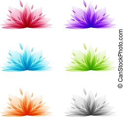 Abstract Lotus Flower Set