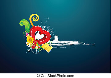 Abstract Love Background with couple - illustraion of love...