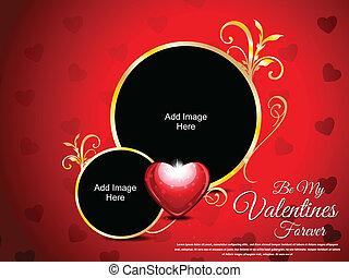 Abstract Love Card Vector