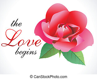 abstract love rose wallpaper