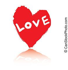 abstract love symbol