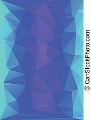 abstract low poly background blue