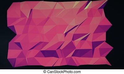 abstract low poly background - Low poly - Colorful abstract...