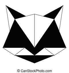 Abstract low poly cat icon