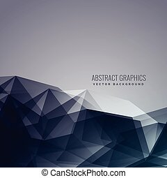abstract low poly dark background