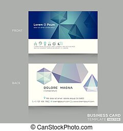 abstract low poly design business card