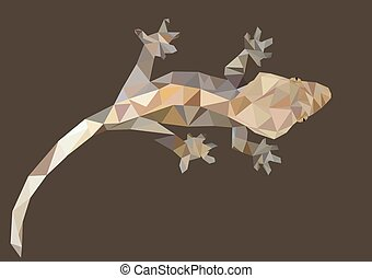 Abstract Low Poly Gecko