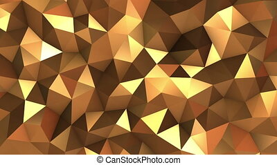 Abstract Low poly Gold background - Abstract Low poly loop...