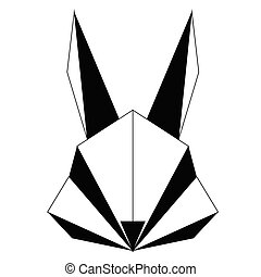Abstract low poly rabbit icon