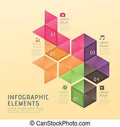 abstract low poly style infographics - modern vector...