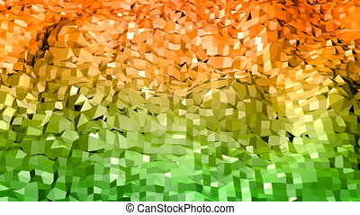 Abstract low poly style looped background. 3d seamless animation in 4k. Modern gradient colors. 12