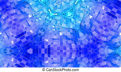 Abstract low poly style looped background. 3d seamless animation in 4k. Modern gradient colors. Low poly blue surface v4