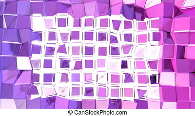 Abstract low poly style looped background. 3d seamless...