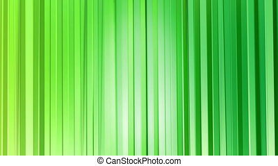 Abstract low poly style looped background. 3d seamless animation in 4k. Modern gradient colors. Green surface as curtains. 2