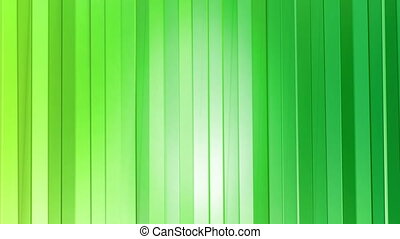 Abstract low poly style looped background. 3d seamless animation in 4k. Modern gradient colors. Green surface as curtains. 1