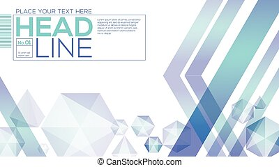 Abstract low polygon design technology background