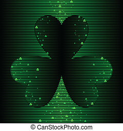 Abstract luck background - Background of shamrock and light...