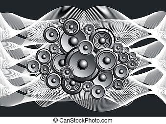 abstract, luidsprekers