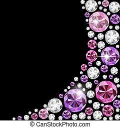 Abstract Luxury Black Diamond Background Vector Illustration...