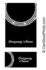 Abstract Luxury Black Diamond Business Card Vector...