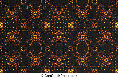 Abstract luxury dark gold pattern background and circle textile