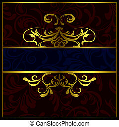 Abstract luxury frame - Illustration vector