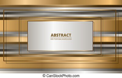 Abstract luxury gold and silver background with frames.