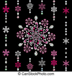 Abstract luxury snowflake. Illustration vector.