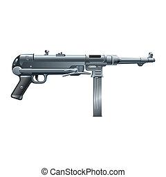 machine gun - abstract machine gun on a white background