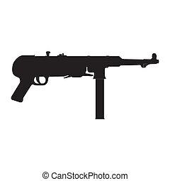 machine gun silhouette - abstract machine gun silhouette on ...