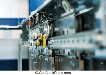 Abstract machinery background (elevator door motor)