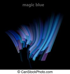 Abstract magic background with blue lines