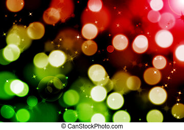 abstract magic bokeh background with flare