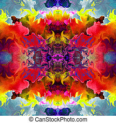 abstract magic colorfull splashes background