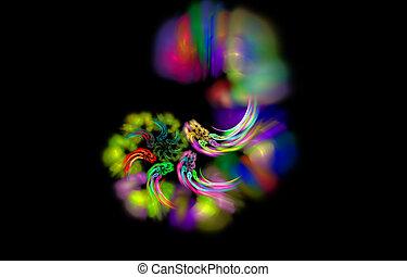 abstract magic hurricane, mystic color diversity