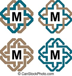abstract magic knot letter eternity emblem