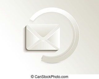 abstract mail button vector